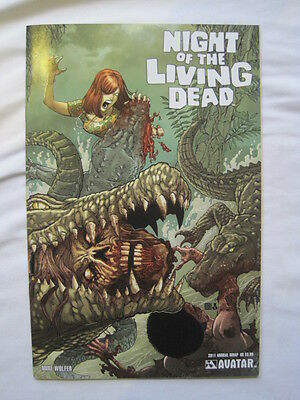 NIGHT of the LIVING DEAD  2011 ANNUAL WRAP COVER by WOLFER & RUSSO. AVATAR 2011