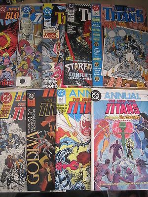 NEW TEEN TITANS ANNUALS 1,2,3,4,5,6,7,8,9. WOLFMAN,BYRNE,PEREZ  etc.DC 1985-1993