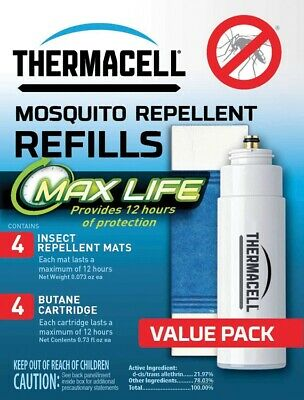 Thermacell RL 4 Max Life Mosquito Insect Repellent Refill 4pk