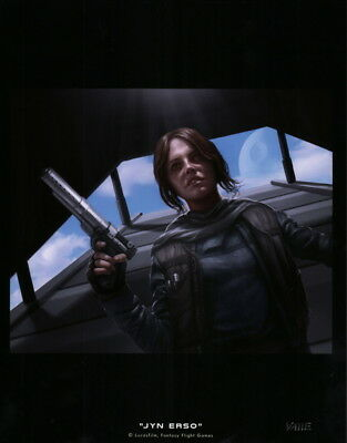 Ryan Valle SIGNED Star Wars Jyn Erso Rogue Art Print Fantasy Fight Game CCG RPG