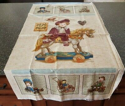 From The Attic Panel 23x42 Giordano Studios Antique Vintage Toys Dolls Boy