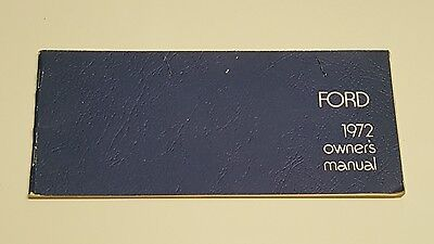 1972 Ford Faurlane Galaxie Owners Manual Operators User Guide Reference Book