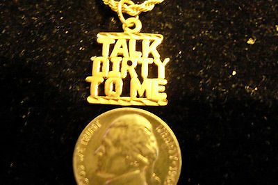 bling gold plated talk dirty word pendant charm FASHION hip hop necklace jewelry