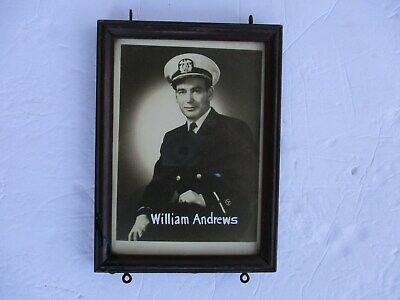 WWII US Merchant Marine Photo Named Framed USMS Officer Early War WW2