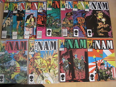 The 'NAM : issues 1,2,5,7,8,10,11,12,13,15,16,25 of CLASSIC 1986 MARVEL SERIES