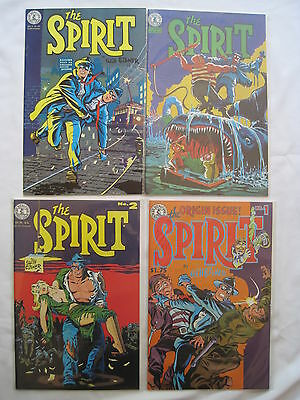 The SPIRIT #s 1,2,3,4  of the classic 1983 series by WILL EISNER. KITCHEN SINK