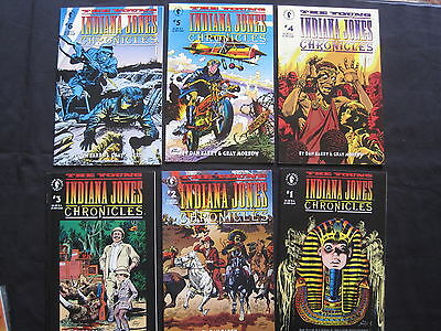 The YOUNG INDIANA JONES CHRONICLES, ISSUES 1,2,3,4,5,6. DH.1992