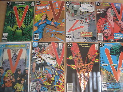 V : THE VISITORS ARE OUR FRIENDS, issues 1,3,4,5,6,7,11,13 of the DC 1985 series