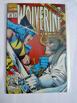 WOLVERINE  issue  54. 1st PRINT. 1st MARVEL SERIES STARTED IN 1988.  X-MEN.