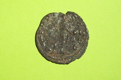 Claudius II Gothicus 268 AD ROMAN COIN globe spear radiate old antique G good ae