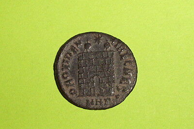 Constantine II 316 AD ancient ROMAN COIN military camp gate vf old army treasure