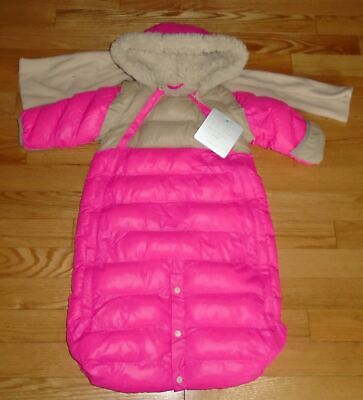 f346a7225 7am Enfant Baby Infant Girls Snowsuit Bunting Pink With Scarf 3-6 Months NWT