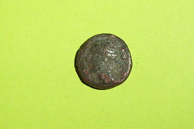 Larissa Thessaly 325 BC ancient GREEK COIN nymph grazinging horse G good antique