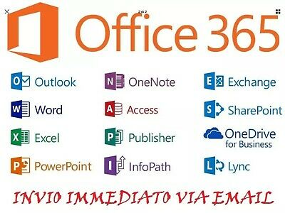 MICROSOFT OFFICE 365/2016 Pro Plus  Instant 12h Lifetime