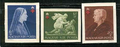 HUNGARY - 1942. Red Cross II Imperforated Cpl.Set MNH!!