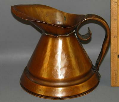 Antique Arts &Crafts Hand Hammered Copper Pitcher Craftsman
