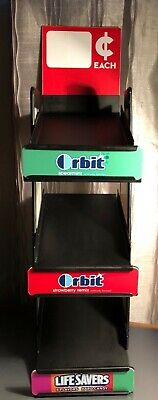3 teir orbit life savers candy store display