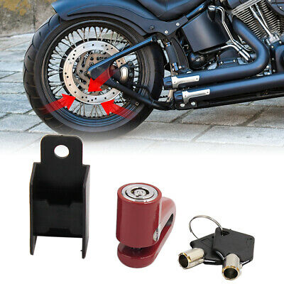Security Safety Anti-theft Disc Lock Protector Red w 2 Key for Scooter