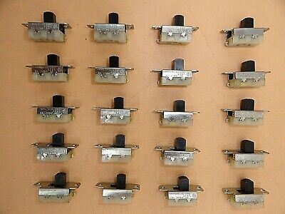 STACKPOLE SLIDE MOMENTARY SWITCH 3A/125Vac (LOT OF 20 )