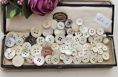 Job Lot Antique Vintage Mother Of Pearl Buttons - Textiles / Sewing / Crafts