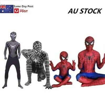 Spiderman Cosplay Body Suit Superhero Boys Kids/Adult Costume Children Outfit AU