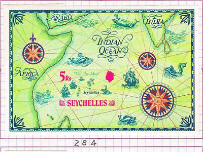 Seychelles 1971 Location Map Of Seychelles Sc 284 Sg