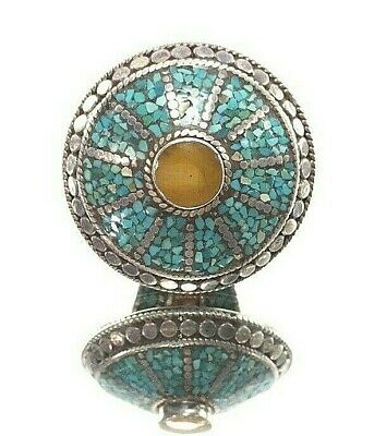 ancient ring roman turquoise amber gem sterling silver rare antique vintage