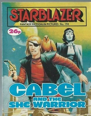 Cabel And The She Warrior,no.194,starblazer Fantasy Fiction In Pictures,comic