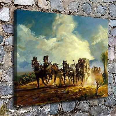 "12""x16""Western Chase Paintings HD Print on Canvas Home Decor Wall Art Pictures"