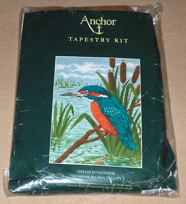 "Anchor ""Kingfisher"" Bird on Water w/ Cattails Needlepoint Kit"