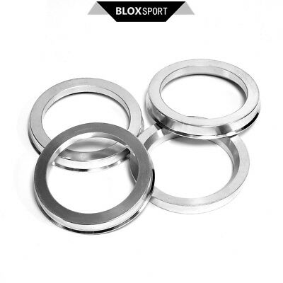 4pcs High Quality Aluminum Alloy Wheel Spacer Hub Centric Rings 72.6OD to 56.6ID