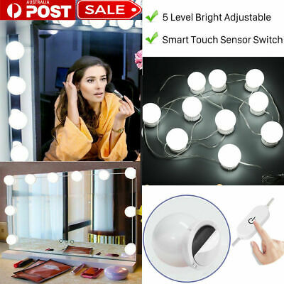 Make Up Mirror Lights 10 LED Kit Bulbs Vanity Light Dimmable Lamp Hollywood NICE