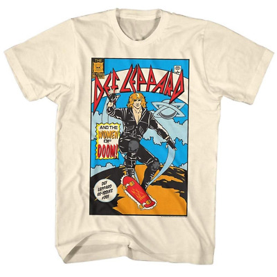 1531aa9a556 Def Leppard Women of Doom Comic Album Cover Men's T Shirt Rock Band Tour  AA132