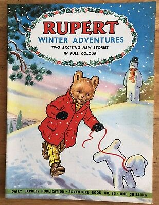 RUPERT Adventure Series 35 RUPERT WINTER ADVENTURES NOVEMBER 1957 VERY FINE