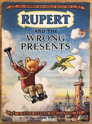 RUPERT Adventure Series 4 Rupert & The WRONG PRESENTS FEBRUARY 1950 VG+ EXAMPLE
