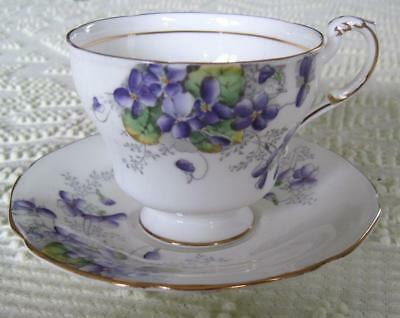 Paragon Fine China Violetta Cup and Saucer Made in England