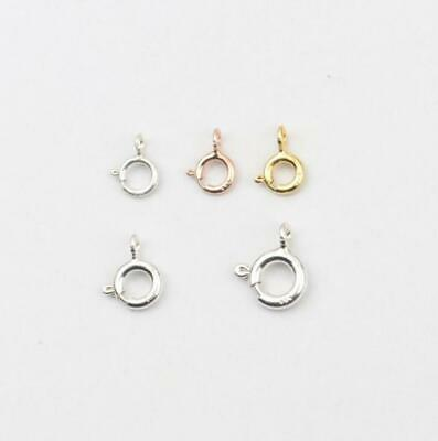 925 sterling silver Bolt Ring Clasps Jewelry Findings Size 5mm 6mm 7mm