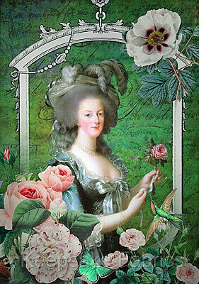 A21 Lovely Antoinette Collage Quilt Block Multi Sizes FrEE ShiPPinG WoRld WiDE