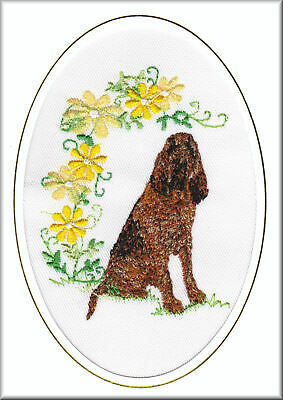 Bloodhound Birthday Card or Notecard Embroidered by Dogmania