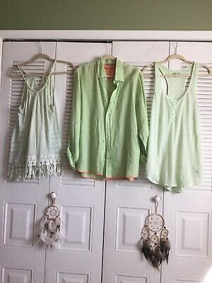 2faf191d9ec Free People Anthropologie Report American Eagle Lot Of 3 Tops Shirts 1 XS 2  Lg
