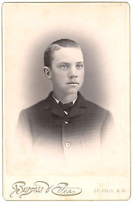 Young, Handsome Teenage Boy – New Hampshire – Antique Cabinet Photo