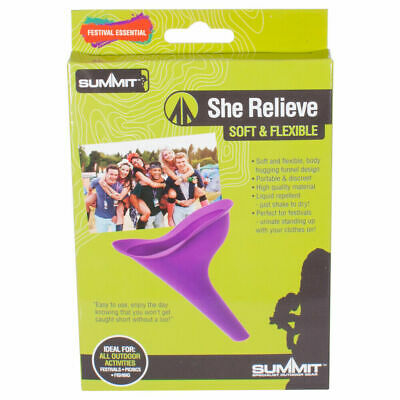 Summit Female Rubber Flexible Wee Funnel She Relieve Portable Urinating Cup Tube