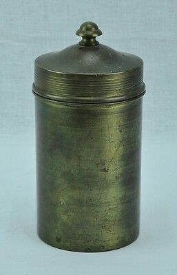 Bradley & Hubbard Arts and Crafts brass cylinder tobacco jar/humid  (BI#MK/0417)