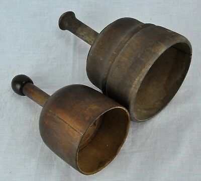 Pair of antique primitive 18th/ Early 19th Century wooden butter (BI#MK/180711)
