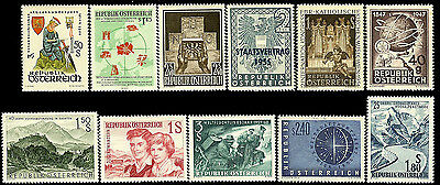 AUSTRIA. Issues of 1947-1960. MNH. Lot #18.