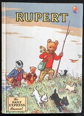 RUPERT ORIGINAL ANNUAL 1955 Inscribed NOT Price Clipped VG PLUS.