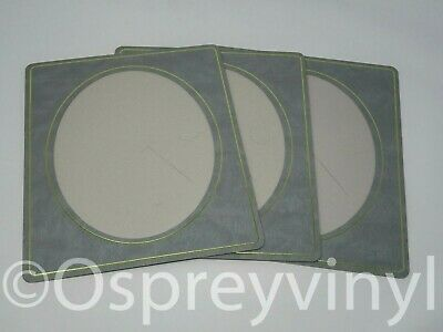 "#30 3x Spicer Hallfield Strut Mount Oval Window Grey/Gold Embossed 8x10"" Photo"