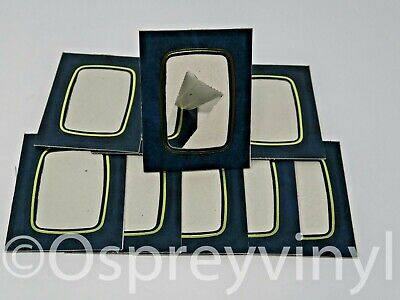 "#40 10x Strut Mount Blue/Gold Marble 2.5x3.5"" Photo Presentation Frame School"