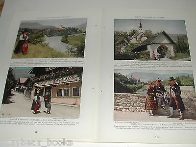 1929 magazine articles x2 on the Danube and Austria, color pics, history, people