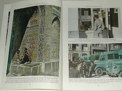 1947 BAKHTIARI magazine articles, Bakhtiari IRAN tribe, WWII expedition